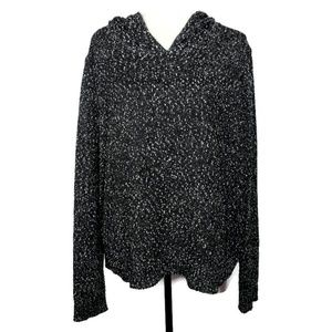 TeeBerry & Weave Speckled Black Hoodie Size XL